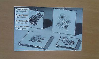 Klischee Blumenornament Galvano Druckstock Druckplatte Zierelemente 2