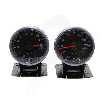 TURBO BOOST 30 PSI PYROMETER KIT 60MM PYRO EGT EXHAUST GAS TEMPERATURE GAUGE