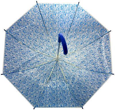 PERLETTI Transparent Kuppel-Schirm Stockschirm Regenschirm Schirmw 3