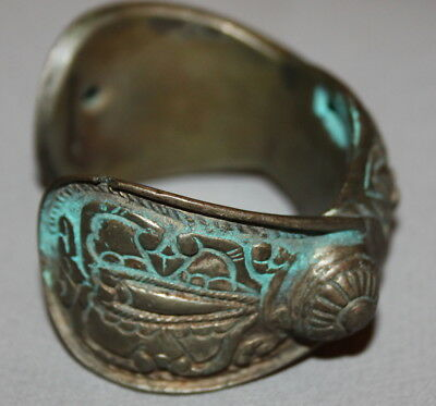 Antique Greek Floral Bronze Fertility Hand Made Bracelet