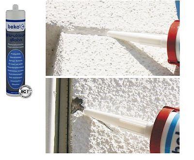 Baustoffe & Holz 6x Strukturdicht Fassaden-strukturacryl Dichtstoff Riß-reperaturspachtel Weiß FüR Schnellen Versand