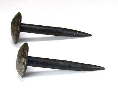 4 HANDMADE LONG ROUND HEAD NAILS Wrought Iron Decor Kitchen Pot Cup Hook Hanger 3