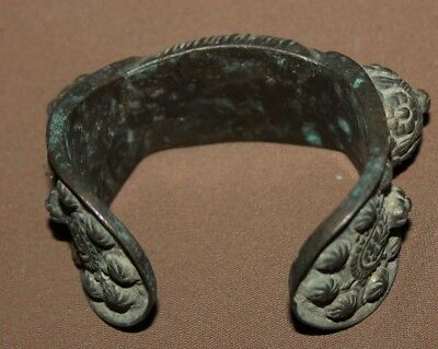 Antique Greek Orthodox medieval bronze fertility bracelet 4