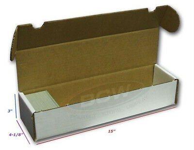 3 BCW 800 COUNT CARDBOARD CARD STORAGE BOXES Trading Sports Case Baseball MTG 2