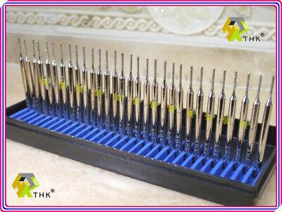30 x THK Diamond 1mm CYLINDRICAL cylinder rotary drills drill bit burr burrs 2