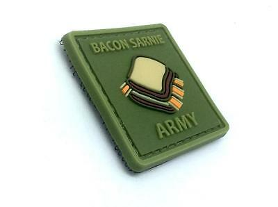 Bacon Sarnie Army Cosplay PVC Airsoft Morale Patch