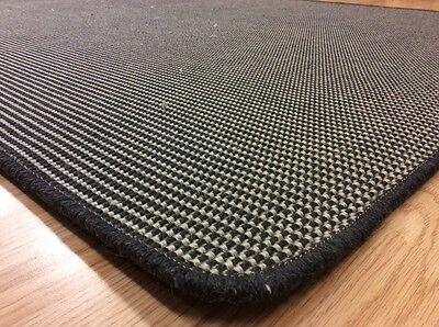 Crucial Trading Linen N Wool Wl778 Dark Grey Carpet Rug Runner 125x190cm 60 Off