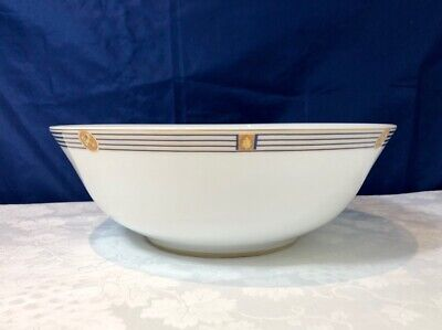 Bernardaud Limoges Porcelain Kent Bleu Saladier / Salad Bowl / Insalatiera NEW 3