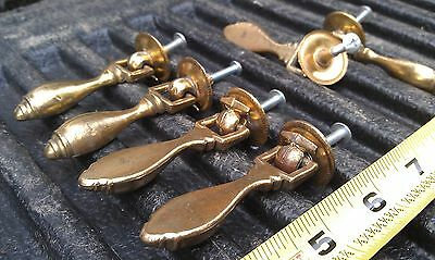 5Kk35 Set Of 6 Diecast Cabinet Pulls, Antique Brass Finish, 1.5 Oz Each, 2-5/8""