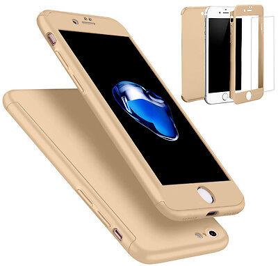 Coque Etui + Verre Trempe Protection Integrale 360 iPhone 6 6S 7 8 Plus X 5S SE 11