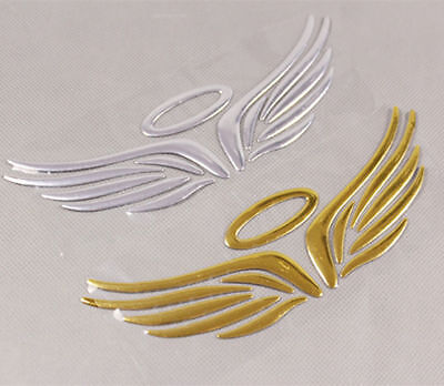 "HALO WINGS Metallic 3D Sticker Emblem 2"" x 6.25"" Car Truck Motorcycle Accessory 6"
