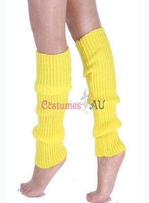 Ladies Legwarmers Gloves leg warmers Knitted Neon Dance 80s Party Costume 1980s 8