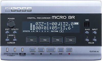 Boss Micro Br Digital Multi 4 Track Recorder & Effects 1Gb + Power Supply Br-80 2