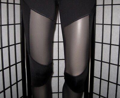 550c63d2019a6f ... Nwt Victoria's Secret Pink Black Mesh Pocket Yoga Ultimate Bonded  Leggings 8