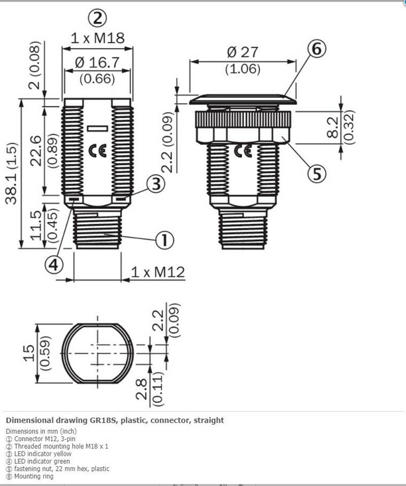 H● SICK GRL18S-N2436 Cylindrical Photoelectric Sensors NPN New 2