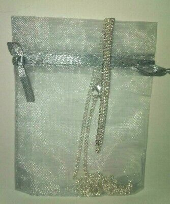 """Beautiful, Sterling Silver 1.5 mm Curb Chain Necklace + GIFT BAG 26""""  long. 6"""