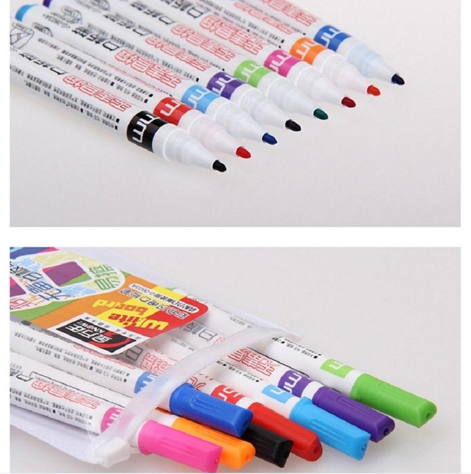 8 Colour Set Kids Whiteboard Marker Non Toxic Dry Erase Easy Wipe Bullet Tip Pen 5