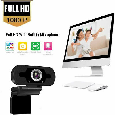 Full HD 1080P Webcam With Microphone USB For PC Desktop Laptop NEW UK Stock 3