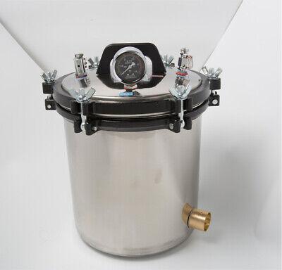 8/12/18/24L 304 Stainless Autoclave Steam Sterilizer Dental Medical Equipment 7