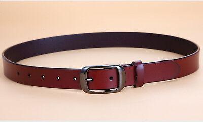 Women's Jean Belt, Classic Buckle Handcrafted Genuine Leather Belt 3