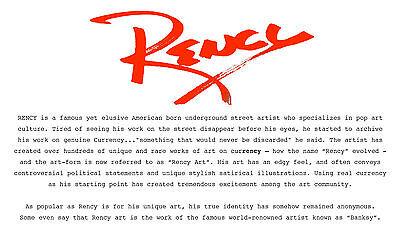 BOBA FETT Star Wars As You Wish Genuine $2 US Bill Pop Art HAND-SIGNED by Rency 2