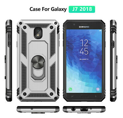 For Samsung Galaxy J2 J3 J4 Plus J6 J7 Magnetic Military Armor Stand Ring Case 3