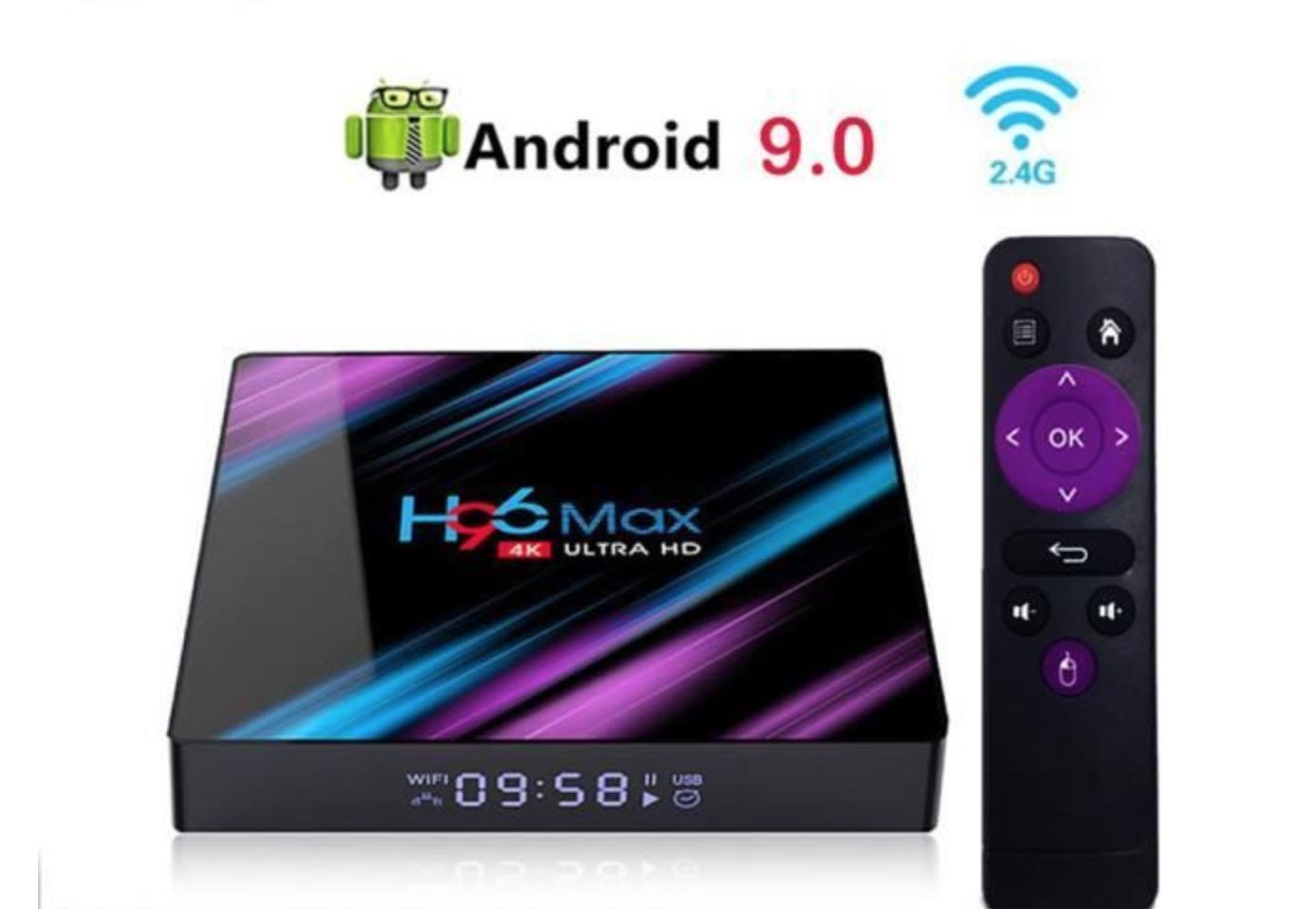 Box Android Multimédia 4GB+32GB WIFI Quad Core Lecteur Multimédia Smart TV BOX 6
