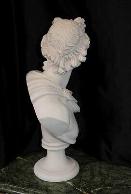 Italian Carved Bust Apollo Faux Marble Interiors 4