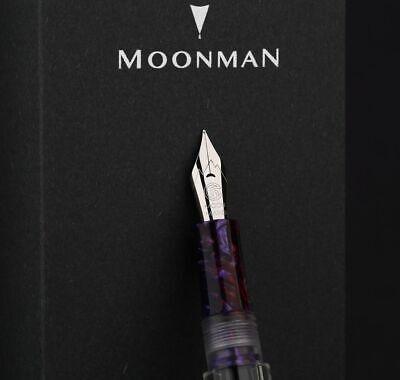 Moonman C1 Transparent Eyedropper Fountain Pen  F Nib Ink Pen Original Box 5