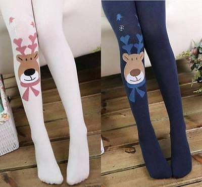 59b727a60f130c ... Girls Kids Cotton Christmas Elk Tights Socks Stockings Pants Hosiery  Pantyhose 2
