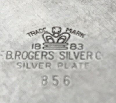 Vintage F B Rogers Silverplate 856 Sauce Gravy Boat With Handle & Drip Plate 3