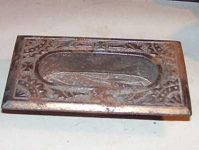 Antique Victorian Door Knob Key Plate Bronzed Cast Iron Fancy Eastlake Hardware 5