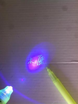 New 6pcs Invisible Ink Spy Pen Built in UV Light Magic Marker Secret Message 3