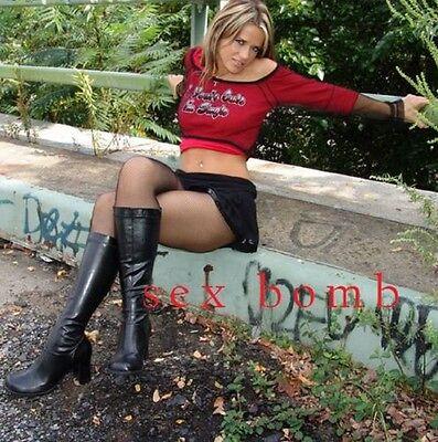 SEXY stivali nero zip cerniera TACCO 7,5 CM DAL numero 35 AL 46 Fashion GLAMOUR 2