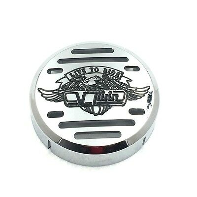 Chrome Round Horn Cover for Yamaha V-Star 650 1100 Classic Custom Motorcycle Motorcycle Electrical & Ignition Parts