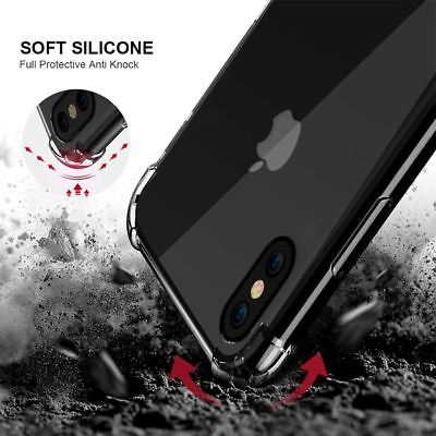 for iPhone Xs 8 7 6 Plus Case Cover silicon Shock proof Tough Hard Gel Lot 5 SE 3