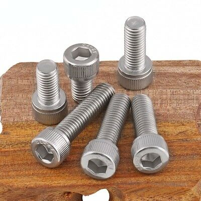 M4 A2-70(304) Stainless Steel DIN912 Allen Bolt Socket Cap Screws Hex Head 5