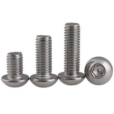 M6 6mm A2 Stainless Steel Button Head Allen Bolts Hexagon Socket Screws