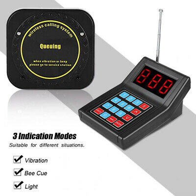 Restaurant Calling Pager Paging System Equipment 1Transmitter+20 Coaster Pagers 5