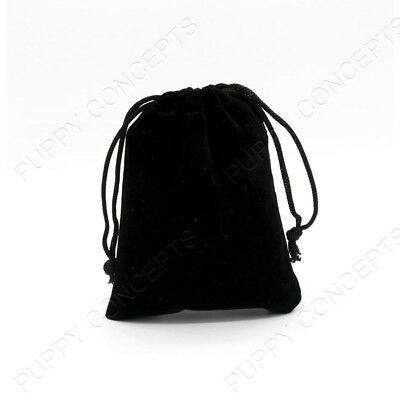 Black Velvet Pouch Drawstring Bags Wedding Favours Gift Party Jewellery Packing 3