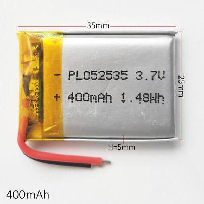 10 pcs 400mAh Lipo Polymer Battery 3.7V For mp3 DVD GPS bluetooth camera 502535 5