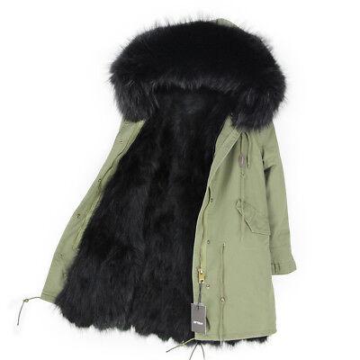 Mantel Jacke 100ECHTPELZ ECHTFELL Parka Damen aus Fuchspelz Luxury Kragen Details zu XXL Y7Igfyvb6