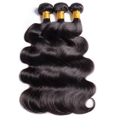 Brésilien Indien Ondulé Cheveux Humain Tissage Virgin Remy Coudre en Corps Vague 12