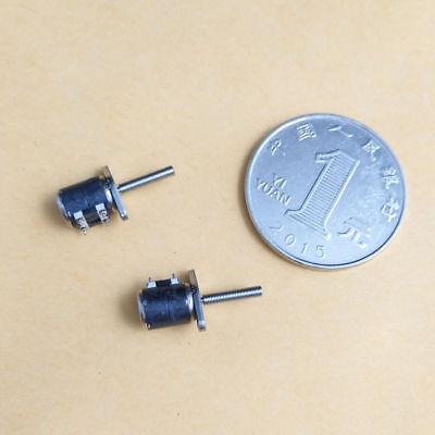 10Pcs Micro 2 Phase 4 Wire Stepper Motor Thread Rod 6mm Canon Camera DIY L (2) 2