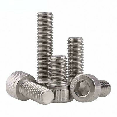 M4 A2-70(304) Stainless Steel DIN912 Allen Bolt Socket Cap Screws Hex Head 3