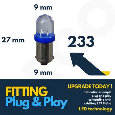 NEW 1  X BLUE  LED BULB  12 VOLT BULBS 233,T4W,BA9S SIDE LIGHT INTERIOR BLBL233B