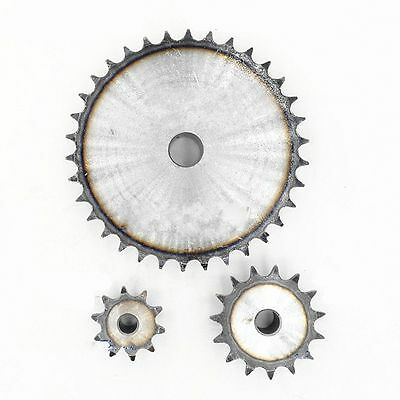 """#40 Chain Drive Sprocket 9/10/11/12/13/14/15T Pitch 1/2""""  For #40 08B Chain Qty1 3"""
