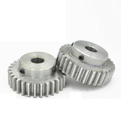 #45 Steel Spur Gear 1 Mod 45T Pinion Gear Bore 6MM With Fixing Grub Screws 2