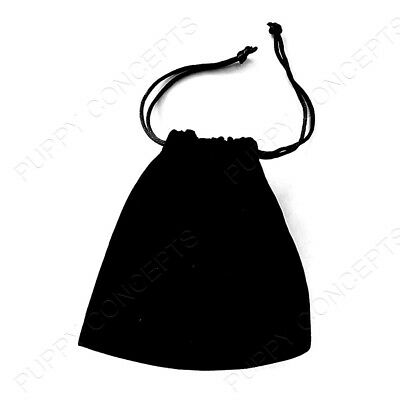 Black Velvet Pouch Drawstring Bags Wedding Favours Gift Party Jewellery Packing 5