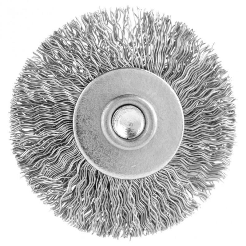 20Pcs 25mm Stainless Steel Wire Brush Polishing Wheel For Dremel Rotary Tool 10